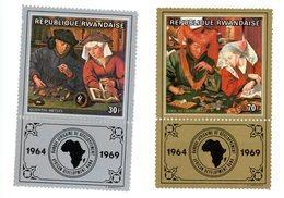 Rwanda 1969-BAD-Peinture Van Reymerswaele-Qentin Metsys-309/10***MNH - 1962-69: Nuevos