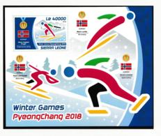 Sierra Leone 2018 Pyeongchang Olympic Games Souvenir Sheet MNH/** (LARGE-H60) - Winter 2018: Pyeongchang