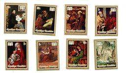 Rwanda-1973-Manet,Rembrandt,Van Der Weyden Etc 511/518***MNH-Année Internationale Du Livre - Impressionisme