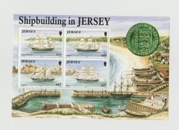 Jersey - Bloc De 4 Timbres Les Bateaux - Année1992 Mi BL 6 - Jersey