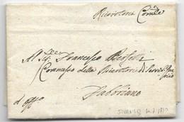 PERIODO NAPOLEONICO - DA SERRA SAN QUIRICO A FABRIANO - 4.7.1810. - ...-1850 Préphilatélie