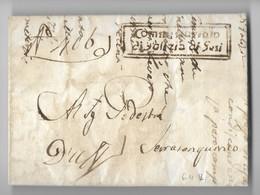 PERIODO NAPOLEONICO - DA JESI A SERRASANQUIRICO - 6.4.1812. - ...-1850 Préphilatélie