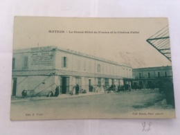 CPA TUNISIE - MATEUR - Le Grand Hotel De France Et Le Cinéma Pathé - Tunisia