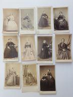 Photo CDV - Carte De Visite - 11 Pièces Robe - Mode Second Empire Avant 1870 - Anciennes (Av. 1900)