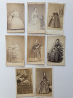 Photo CDV - Carte De Visite - 8 Pièces Robes, Mode Mode Second Empire Avant 1870 - Anciennes (Av. 1900)