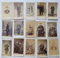 Photo CDV - Carte De Visite - 15 Pièces - Divers  - Second Empire - Avant 1870 - Anciennes (Av. 1900)