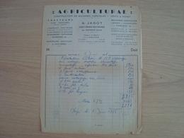 FACTURE AGRICULTURAL CONSTRUCTION DE MACHINES AGRICOLES SAINT-FIRMIN-DES-VIGNES MONTARGIS 1953 - Frankreich