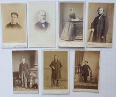 Photo CDV - Carte De Visite - 7 Pièces - Divers  - Second Empire - Avant 1870 - Anciennes (Av. 1900)
