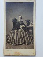 Photo CDV- FRANCK à Paris - Femme Robe Mode  -Second Empire - Avant 1870 - - Anciennes (Av. 1900)