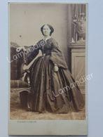 Photo CDV- MARZOCCHINI Livorno - Belle Robe - Mode - Femme - Italie - Anciennes (Av. 1900)
