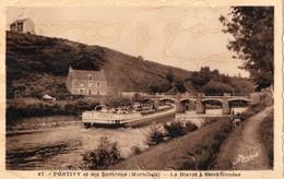 CPA  Batellerie -  56 - PONTIVY Et Ses Environs - Le Blavet à Saint-Nicolas - Pontivy