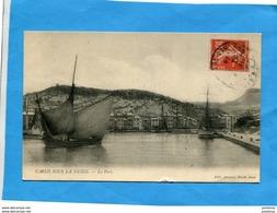 CASSIS -sous La Neige-port Et Ville Blanchis- Tartane Quittant Le Port-éditionJermini-a Voyagé 1914 - Cassis