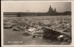 ! Alte Ansichtskarte Wien, Donau 1929, Eis, Brücke - Vienna Center