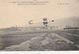 20 / 4 / 374 - CANNES  PORT  AVIATION  DE  LA  NAPOULE  - MEETING ( 27  / 4  1910)  - FREY SUR  BIPLAN  FARMAN  - CPA - Cannes