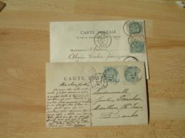 Lot De 2 Paire Millesime Blanc 5 C Sur Lettre - Marcophilie (Lettres)