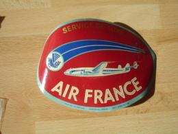 Hippocampe Air France Service De Luxe  Avion Constellation Etiquette Hotel Valise Luggage - Etiquettes D'hotels
