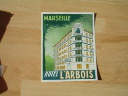 Marseille Hotel L Arbois  Etiquette Hotel Valise Luggage - Etiquettes D'hotels