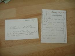 Lot De 4  Lettre Autographe Albert Baudouin De Saint Etienne Ne A Toul  Militaire Adresse Au General Herminy - Autographes
