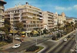 Cpsm 06 Nice , Promenade Des Anglais Et Boulevard Gambetta - Voitures Anciennes , Non écrite - Piazze