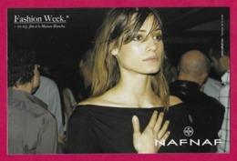 CPM.   NAF NAF.   Mode.   Fashion Week.    Postcard. - Advertising