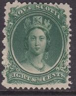 Nova Scotia 1860 Yellowish Paper SG 15 Mint Hinged - Neufs