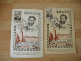 1946 Fouquet De La Varanne Cm Carte Maximum Paris Libourne - Maximumkaarten
