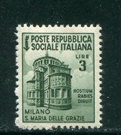 ITALIE- République Sociale Italienne- Y&T N°40- Neuf Sans Charnière ** - Mint/hinged