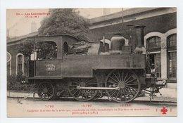 - CPA LES LOCOMOTIVES (P.-L.-M.) - Ancienne Machine De La Série 900, Construite En 1856, Transformée En Machine... - Trains