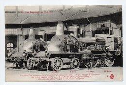 - CPA LES LOCOMOTIVES (P.-L.-M.) - Machine C.44, Compund à 4 Cylindres, 1er Type à Coupe-vent Pour Trains Express... - Trains