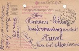9722-FRANCHIGIA AUSTRIA - FELDPOSTKORRESPONDENZKARTE-11-11-1914 - Storia Postale