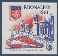 CNEP-1981-N°2** RHONALPEX.Salon Philathélique De LYON - CNEP