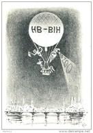 """Schweiz Suisse 1954: ERSTAUFSTIEG BALLON HB-BIH """"ALPINIT"""" Am Zürcher Seenachtfest """"ZOO Zürich"""" (Litho A.Diggelmann) - Montgolfières"""
