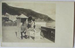 Österreich Soldat Mit Frau An Der Adria, Mode Hutmode, Fotokarte (23213) - War 1914-18