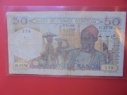 AFRIQUE De L'OUEST 50 FRANCS 1948 CIRCULER (B.12) - Westafrikanischer Staaten