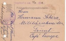 9723-FRANCHIGIA AUSTRIA - FELDPOSTKORRESPONDENZKARTE-17-10-1914 - Storia Postale