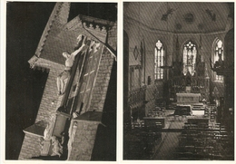 Hove : St. Laurentiuskerk  --- Kalvarieberg / Binnenzicht ----- 2 Kaarten - Hove