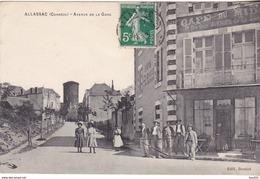 BERG- ALLASSAC  EN CORREZE  AVENUE DE LA GARE   CPA  CIRCULEE - France