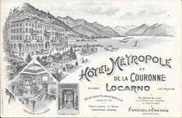 """Locarno """"Suisse"""" - Hôtel Métropole Et De La Couronne - Lac Majeur - Müller Trüb, Como - 2 Scans. - TI Tessin"""