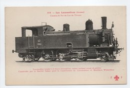 - CPA LES LOCOMOTIVES (Suisse) - Chemin De Fer Du Lac De Thoune - Locomotive Tender... - Trains