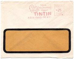 CHIEN = 75 PARIS TRI N° 1 - 1960 = EMA Illustrée De MILOU 'Tous Les Jeunes Lisent TINTIN' Machine G - Chiens