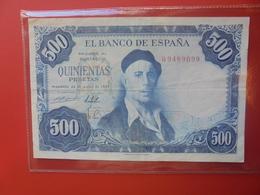 ESPAGNE 500 PESETAS 1954 CIRCULER (B.12) - [ 3] 1936-1975 : Regency Of Franco