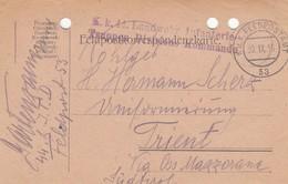 9730-FRANCHIGIA 1° GUERRA - AUSTRIA - K.U.K. FELDPOSTAMT 53 - 30-9-1916 - Storia Postale
