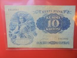 ESTONIE 10 KROONI 1928 CIRCULER (B.12) - Estland