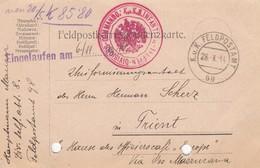 9732-FRANCHIGIA - AUSTRIA - K.U.K. FELDPOSTAMT 98 - 28-10-1914 - Lettres & Documents