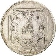 Monnaie, Népal, SHAH DYNASTY, Birendra Bir Bikram, 25 Rupee, 1974, SUP, Argent - Nepal