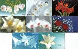 *GIAPPONE* -  Lotto Di 8 Schede Usate Differenti - Flores