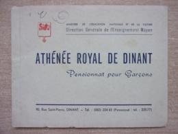 Dinant - Athénée Royal - Pensionnat Pour Garçons - 20 Pages Avec Photos - Très Bon état - Culture