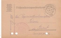 9734-FRANCHIGIA - AUSTRIA - K.U.K. FELDPOSTAMT 218 - 15-11-1916 - Covers & Documents