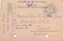 9735-FRANCHIGIA - AUSTRIA - K.U.K. FELDPOSTAMT 229 - 19-9-1915 - Storia Postale