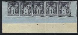 FRANCE Type Sage:  Bande De 5 CDF De Y&T 83b  Neufs**   B à TB - 1876-1898 Sage (Type II)